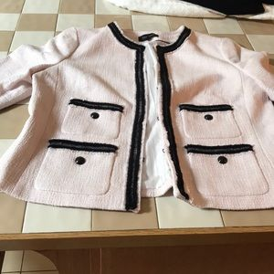 Baby pink and black Talbots blazer